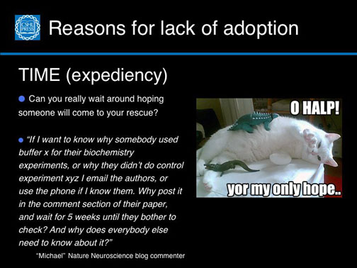 Reasons for lack of adoption–Expediency