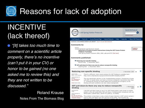 Reasons for lack of adoption–Incentive