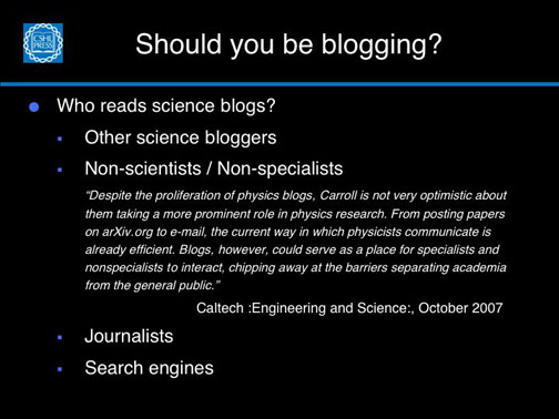 Who reads science blogs?
