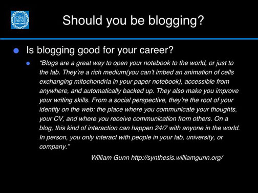 Blogging and your career–positives