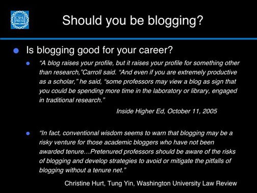 Blogging and your career–negatives