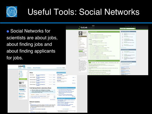 Useful Tools:  Social Networks