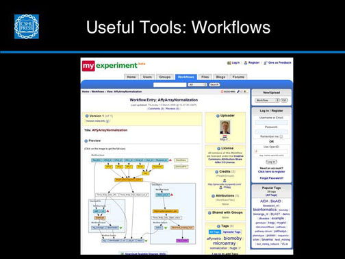 Useful Tools:  Workflows